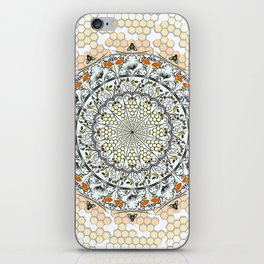 Overlapping Bee Mandala (Color) iPhone Skin