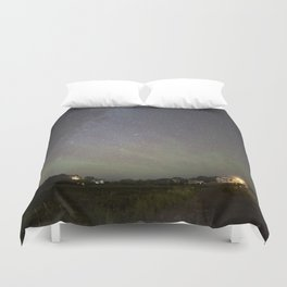 Airglow and the Milkyway at Pebble Beach Duvet Cover