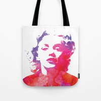 marilyn Tote Bags featuring Marilyn by Fimbis