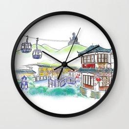 Ngong Ping Buddha Wall Clock