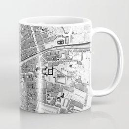 Vintage Map of Dublin Ireland (1797) BW Coffee Mug