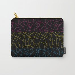 Abstract Threads – Pansexual Pride Flag Carry-All Pouch