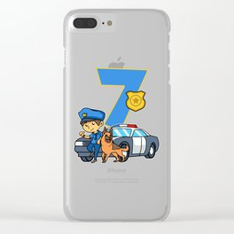 Police Officer 7th Birthday Party Supply 7 Years Clear iPhone Case