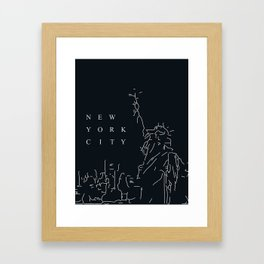 Minimal New York Poster Framed Art Print