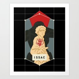 Issac Legacy Silhouette. Art Print