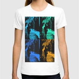 Blue party in the village T-shirt