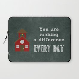 You are making a difference Laptop Sleeve