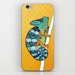 Veiled Chameleon I iPhone Skin