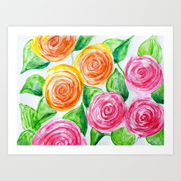 lollipop roses Art Print
