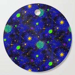 Wrinkle Planet Pattern Cutting Board