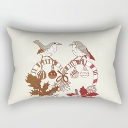 Robin Wreath Rectangular Pillow