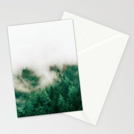Foggy forest watercolor painting #7 Stationery Cards