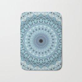 Mandala in cold winter tones Bath Mat