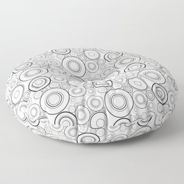 Abstract Black And White Circle Pattern Floor Pillow