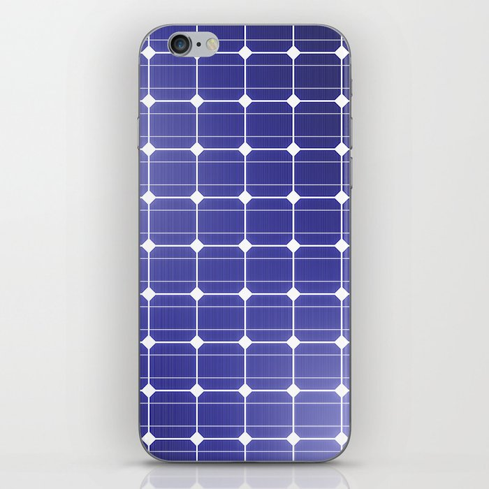 In charge / 3D render of solar panel texture iPhone Skin