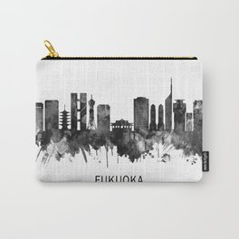 Fukuoka Japan Skyline BW Carry-All Pouch