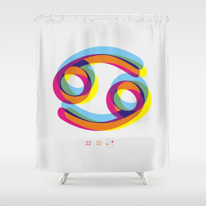 Cancer Zodiac Shower Curtain