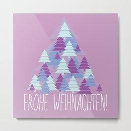 Christmas card Tree Metal Print