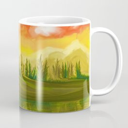 Bald Eagle Sunset Landscape (Color) Coffee Mug