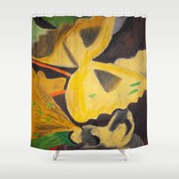 pasta Shower Curtains featuring Pasta by Stefanie Sharp