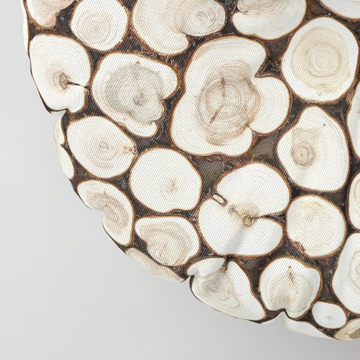 Background of wooden slices tree Floor Pillow