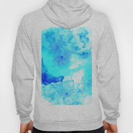 Modern blue sea hand painted watercolor Hoody