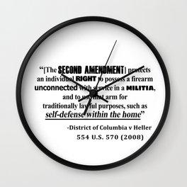 DC v Heller Second Amendment Case Law Wall Clock