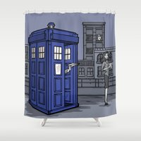 hallion Shower Curtains featuring PaperWho by Karen Hallion Illustrations