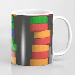 Colorful cylinders Coffee Mug