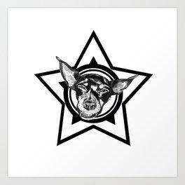 Tyson (black & white) Art Print