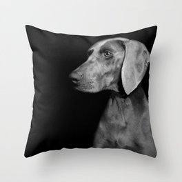 CHILI WEIMARANER Throw Pillow