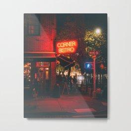 Corner Bistro Metal Print