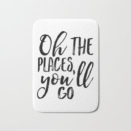 Oh The Places You'll Go,Travel Poster,Travel Gift,Printable Quote,Scandinavian Print,Nursery Decor,K Bath Mat
