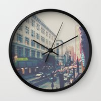 broadway Wall Clocks featuring Broadway Street by Story Of Tascha