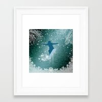 snowboarding Framed Art Prints featuring Snowboarding by nicky2342