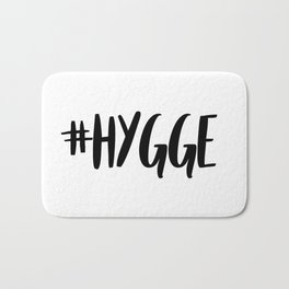 #hygge - scandi quote trend hashtag Bath Mat