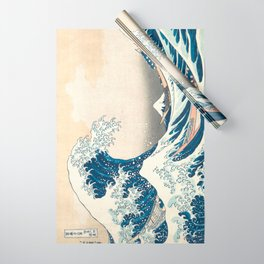 The Great Wave off Kanagawa by Katsushika Hokusai from the series Thirty-six Views of Mount Fuji Wrapping Paper