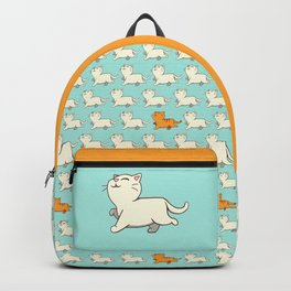 Proud cat pattern blue Backpack