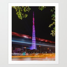 Brasilia TV Tower Art Print