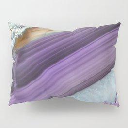 Purple Agate Slice Pillow Sham