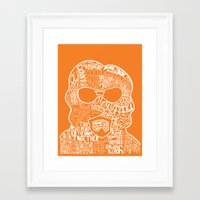 lebowski Framed Art Prints featuring Big Lebowski by Pixie Tish Brayman
