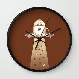 Alien Coffee Invasion Wall Clock