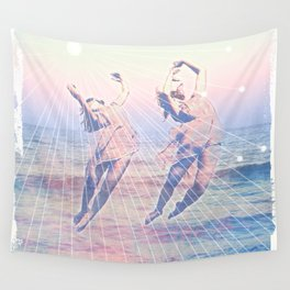 Elementalists under the Sunset Wall Tapestry