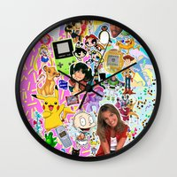 90s Wall Clocks featuring 90s, childhood. by eriicms