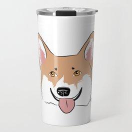 Corgi Face Travel Mug