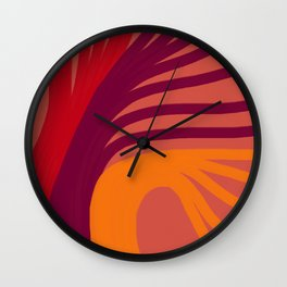 Triplets - Indian Red Wall Clock