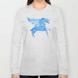 Origami Pegasus Long Sleeve T-shirt