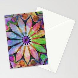 Rainbow Flower Mandala Stationery Cards