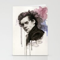 harry styles Stationery Cards featuring Harry Styles by bellavigg