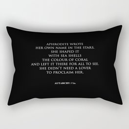AUTARCHY (Black Background) Rectangular Pillow